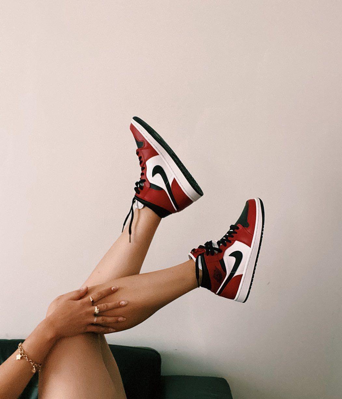 Air Jordan 1 Mid Chicago Black Toe Black Gym Red White Basketball Shoes 554724 069 Af1 Sneakers Jordans Sneakers Outfit Nike Air Shoes Jordan Shoes Girls