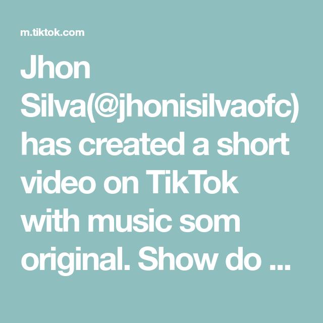 Jhon Silva Jhonisilvaofc Has Created A Short Video On Tiktok With Music Som Original Show Do Mc Jotape Receitas Divertidas Como Fazer Carbonara Receitas