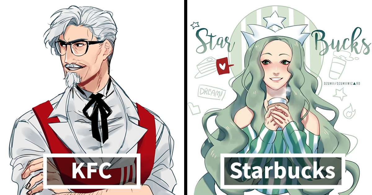 Illustrator Reimagines Fast Food Mascots As Anime Characters And Now Everyone Wants To Read Their Manga Anime Characters Anime Character Design