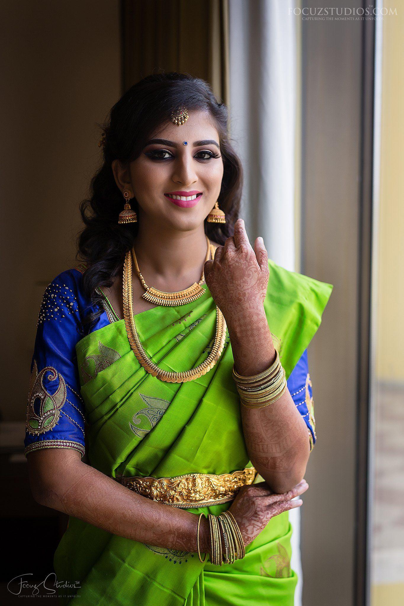 15ab994dc0 Beautiful Traditional Bridal Silk Saree   Vaishu in 2019   Bridal ...