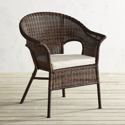 Casbah Mocha Stacking Chair | Pier 1 Imports