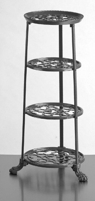 Genial Four Tier Saucepan Stand   A Classic Four Tier Pan Stand. Made From Cast  Aluminium