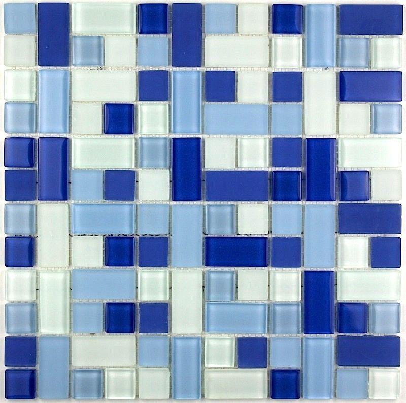 carrelage mosaique verre faience salle de bain CUBIC BLEU 7,90