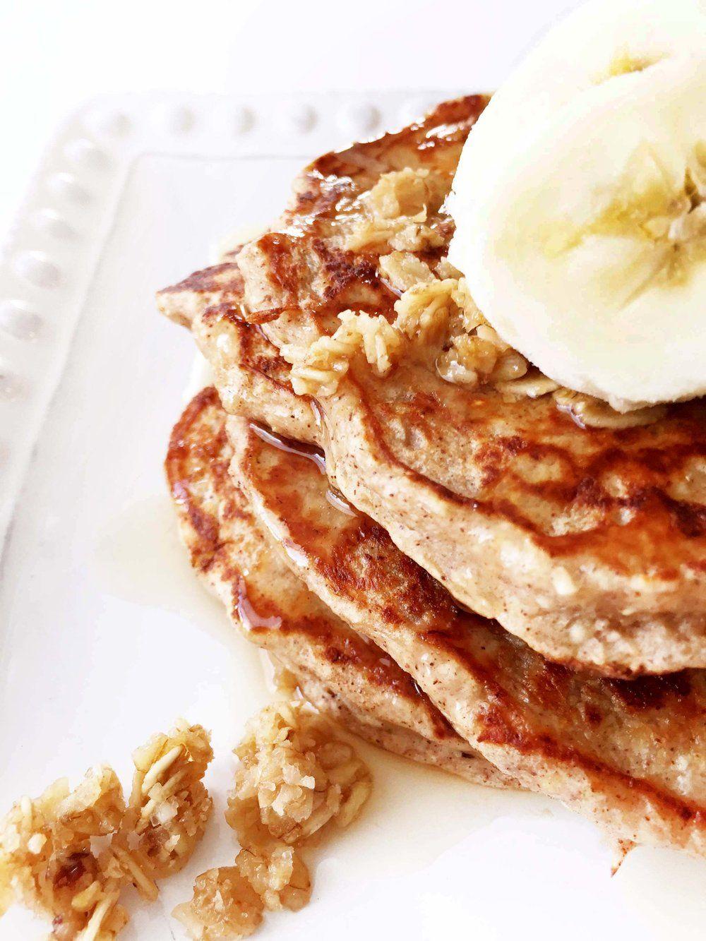 GlutenFree Banana Nut Pancakes Banana nut pancakes