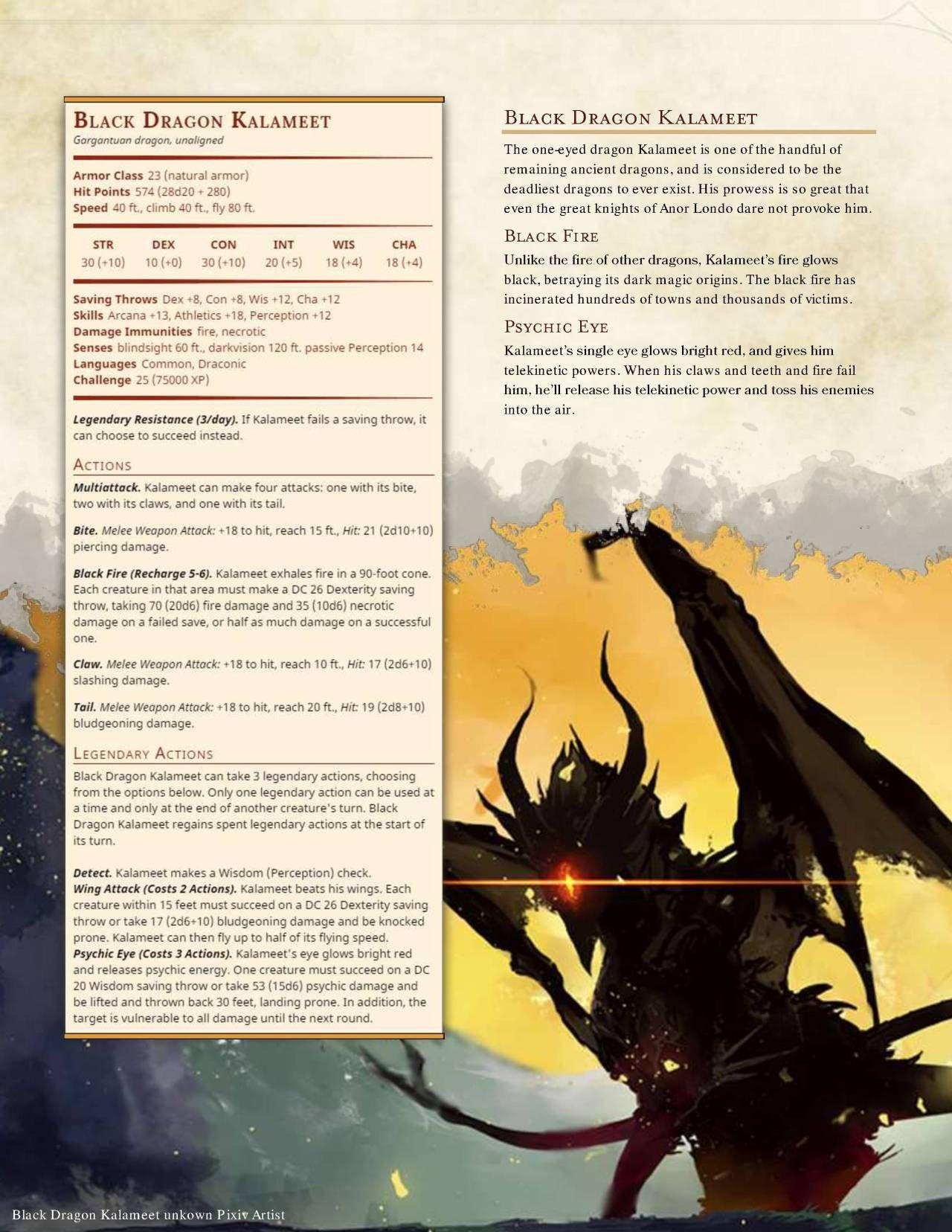 DnD 5e Homebrew — Legendary Boss Monsters by Zephyro7 | Game pics ...