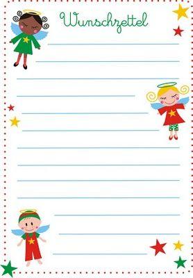 wunschzettel | basteln weihnachten, wunschliste weihnachten und briefpapier weihnachten