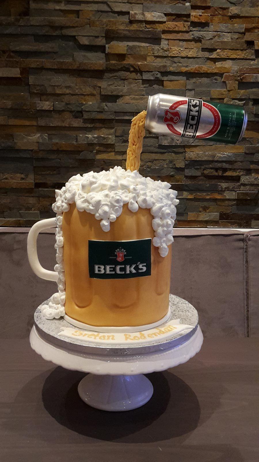 Geburtstagstorte Birthdaycake Bier 3dtorte Beer 3dcake Beercake Biertorte Becks Cafelezard Berlin Berlinsbestetor 3d Kuchen Coole Torten Bierkuchen