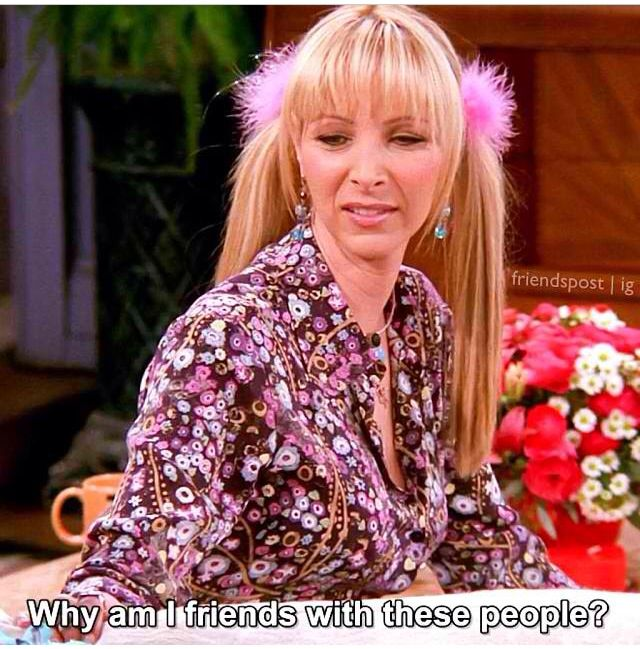 who am i from friends
