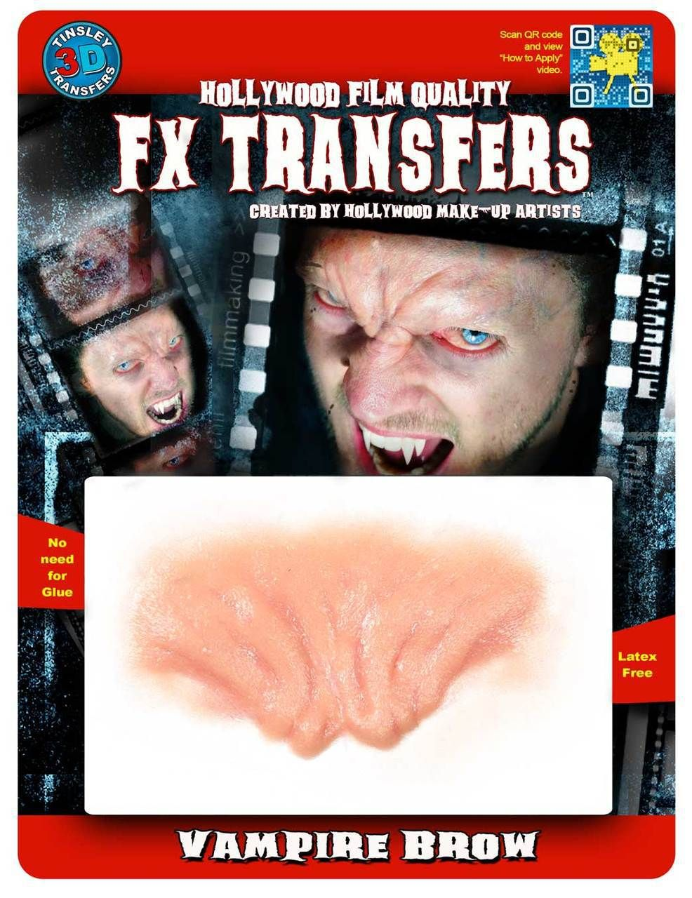 Tinsley Transfers Inc. - Vampire Brow - 3D FX Transfers, $13.99 (http://www.tinsleytransfers.com/vampire-brow-fx-transfers/) They have a lot of different awesome 3d fx transfers :D