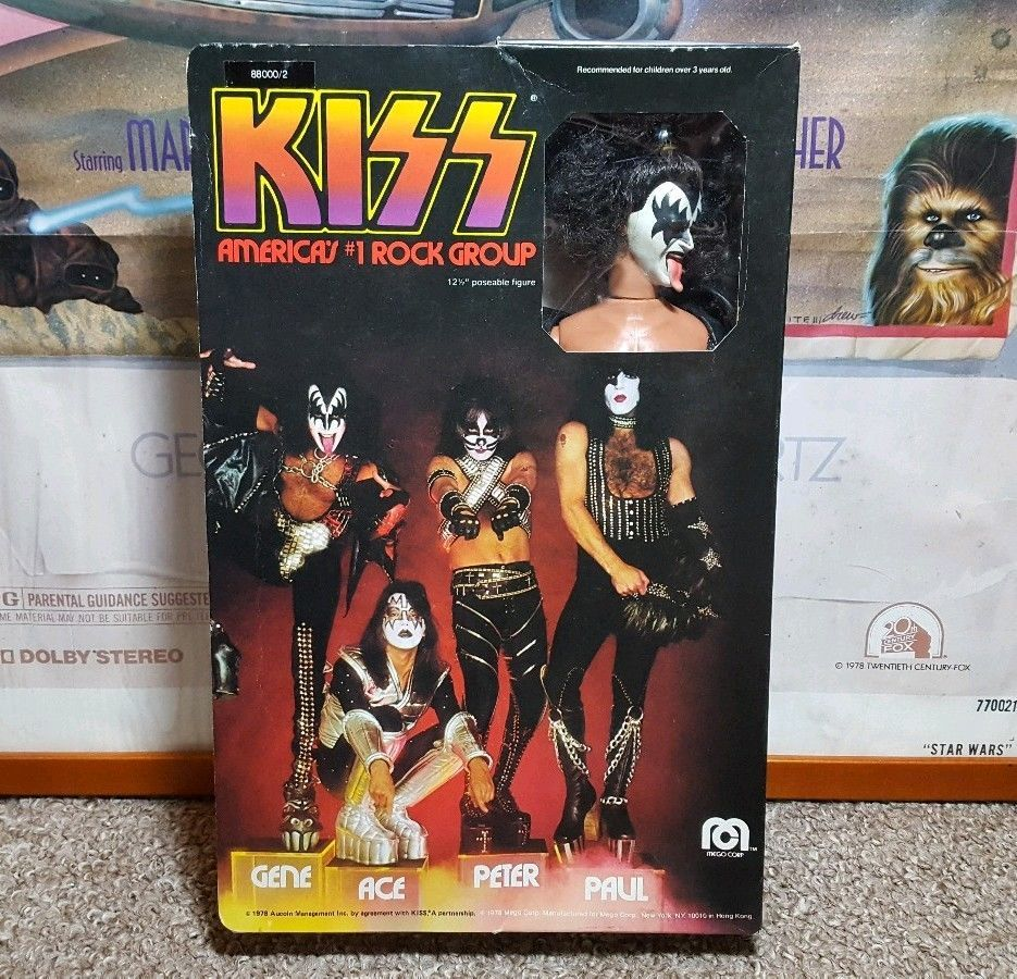 Vintage Action Figure 1977 Kiss Doll Gene Simmons Mego Corp
