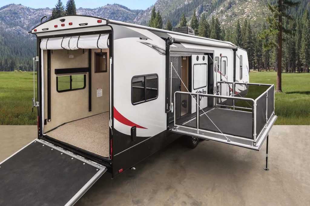 Travel Trailer Toy Haulers With Separate Garage Wow Blog