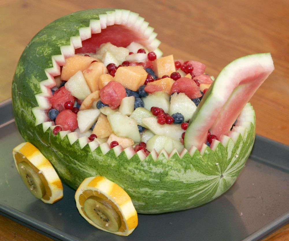 baby buggy fruit centerpiece for baby shower | Parties and Showers ...