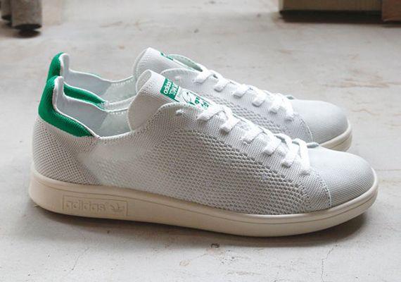 adidas Stan Smith Primeknit - White - Green - SneakerNews.com