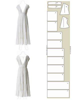 schnittmuster kleid selber n hen 8 luftige ideen selber n hen anleitungen und kleider. Black Bedroom Furniture Sets. Home Design Ideas