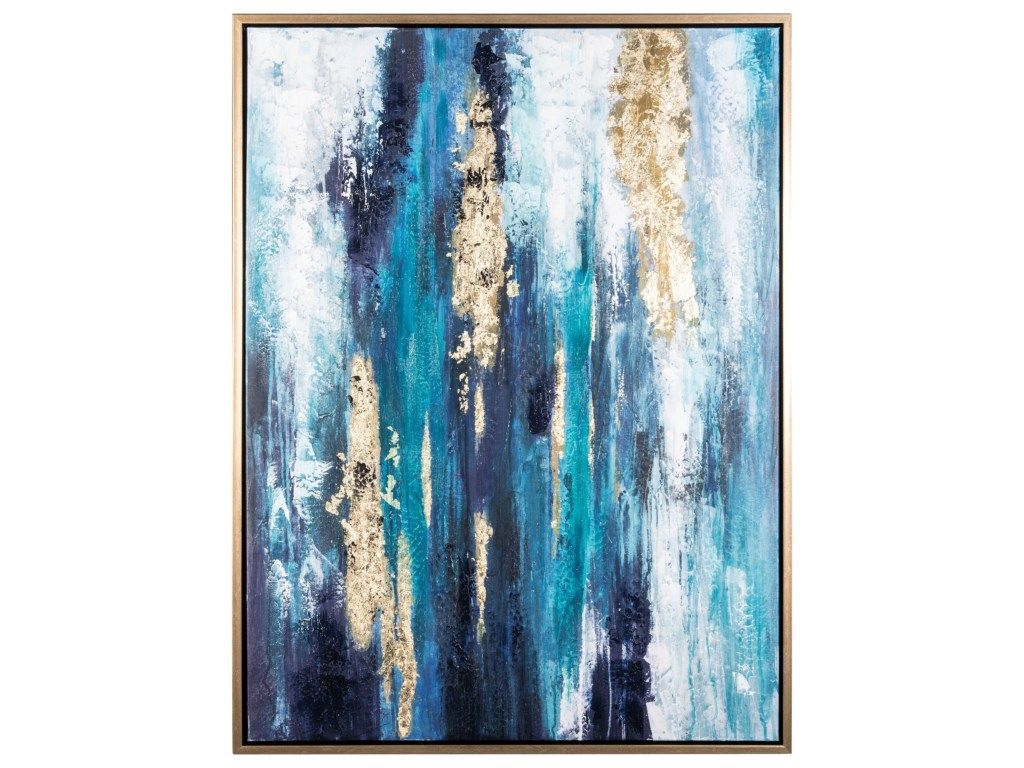 Wall art dinorah teal blue wall art by signature design by ashley