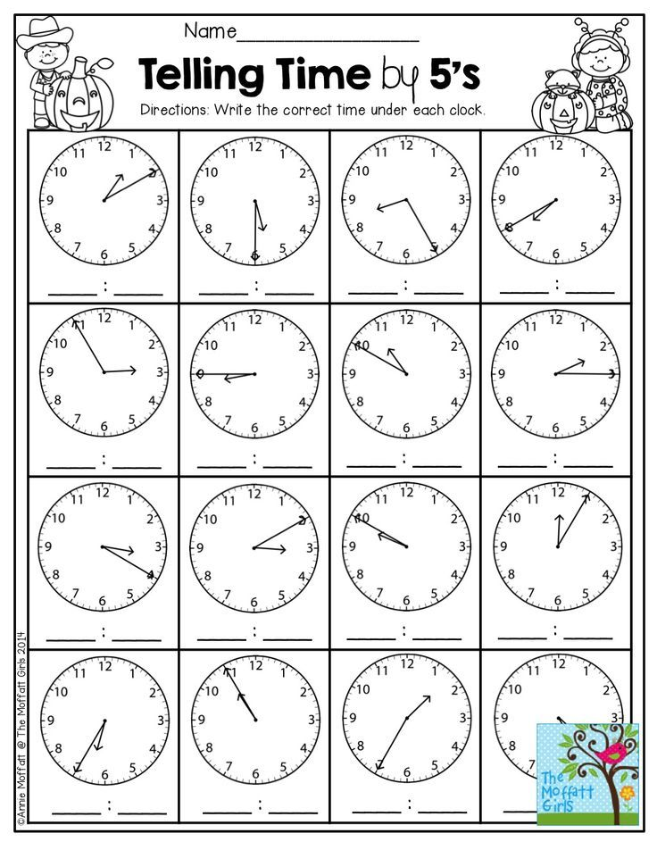 Telling Time by the 5 minutes and TONS of other great printables ...