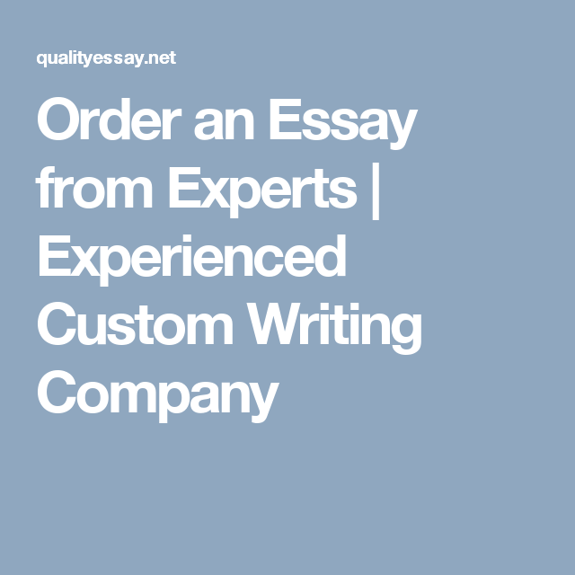 Order An Essay From Experts