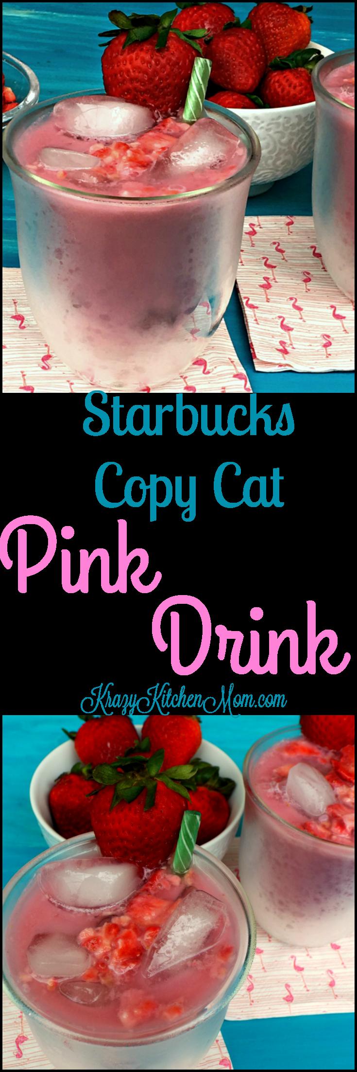 Copy Cat Starbucks Pink Drink Recipe cocktails Pink