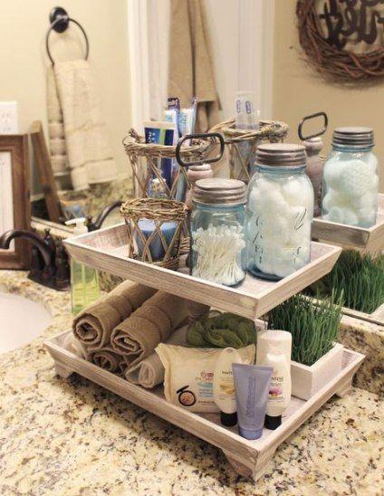 22+ trendy ideas bathroom vanity gray decor cake stands #bathroomvanitydecor