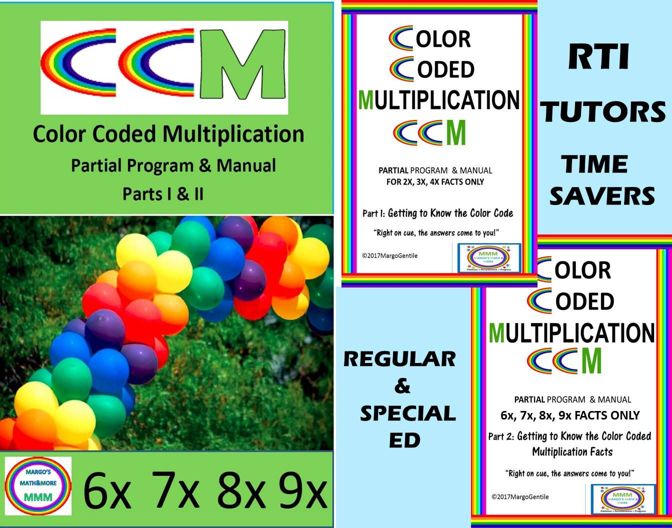 Color Coded Multiplication Program For 6x 7x 8x 9x
