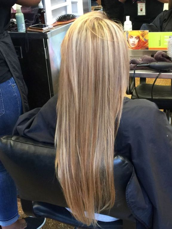 Image result for blonde highlights vs all over color | Hair ...