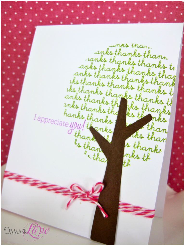 Amazing Ideas For Making Thank You Cards Part - 7: Cute Way To Make A Tree, Handmade Card