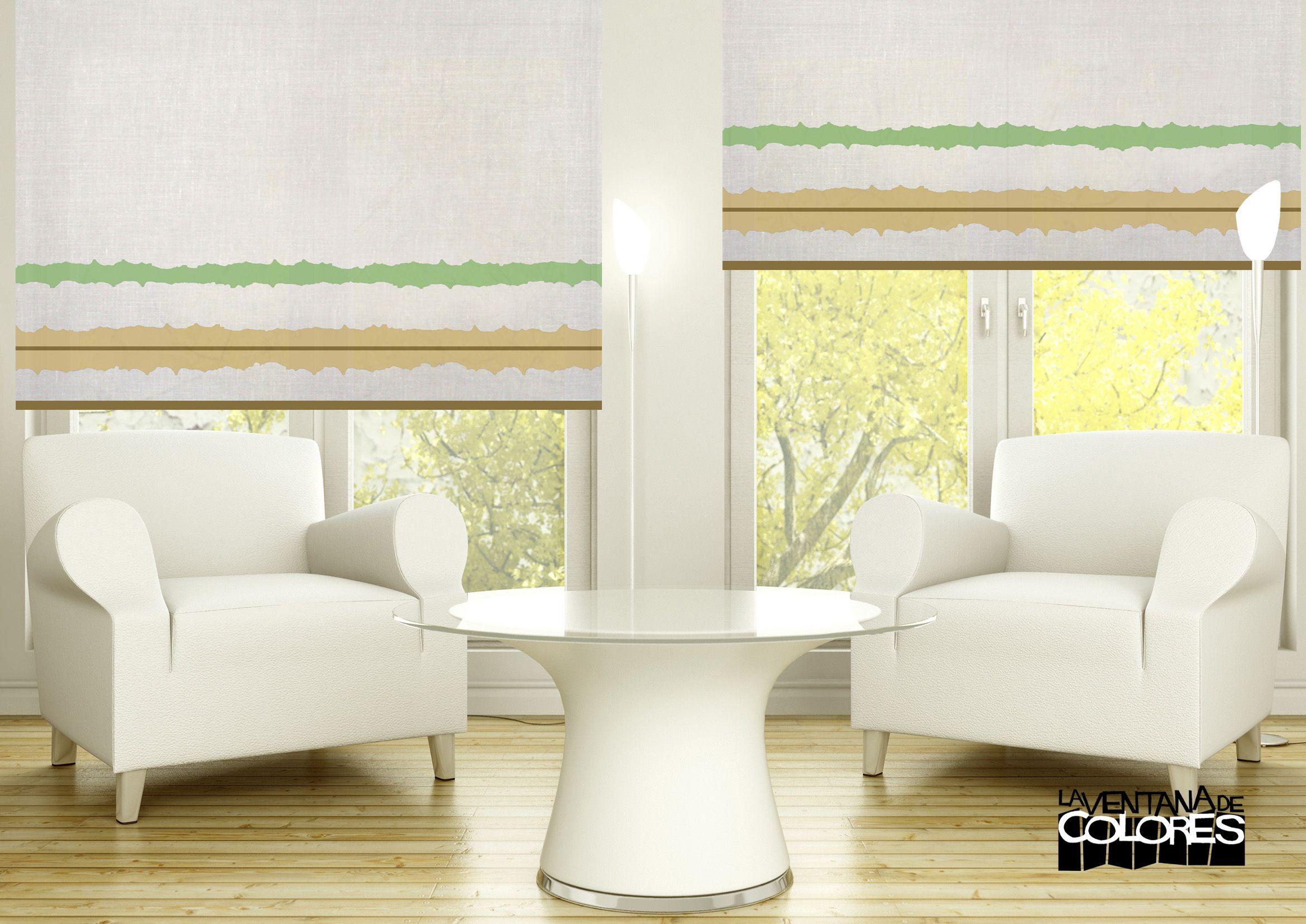 Pin de la ventana de colores en estores enrollables for Cortinas verticales precio