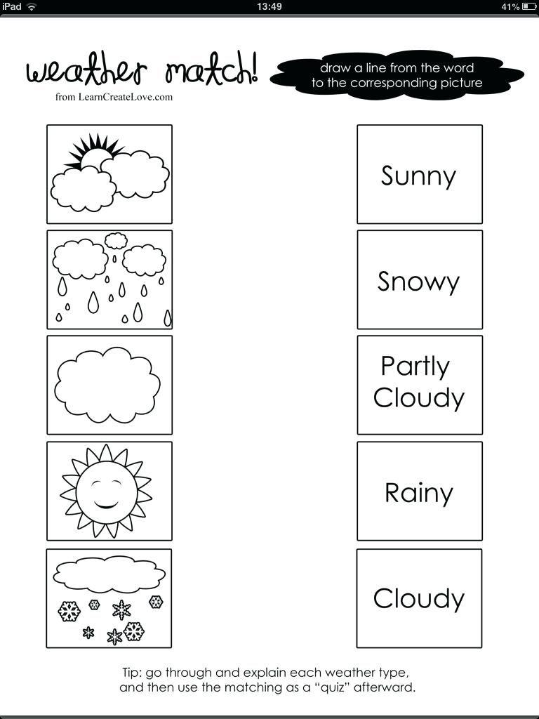 1st Grade Science Worksheet   Weather worksheets [ 1024 x 768 Pixel ]
