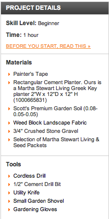 Materials List For Building A Potted Herb Garden