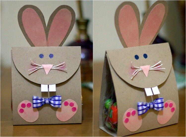 Papier Geschenktüte Wie Osterhase Dekorieren