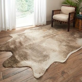 Rawhide Beige/ Ash Rug (5' x 6'6) - 18763962 - Overstock - Great Deals on Alexander Home 5x8 - 6x9 Rugs - Mobile