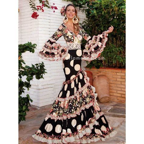 b2164e6ac62e Flamenco Sevillana Arena Gown Dress in 2019   Spanish Flamenco ...