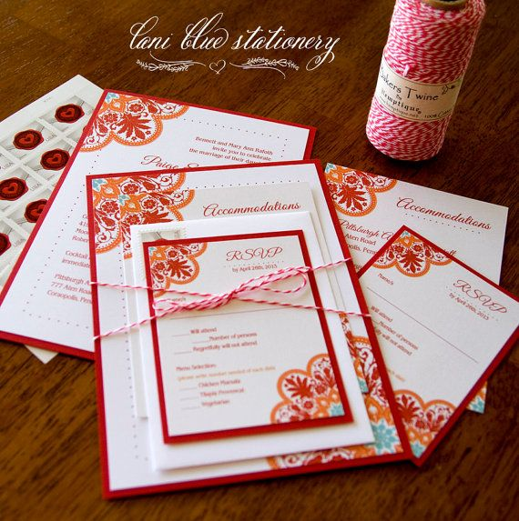 DIY Talavera Tile Inpsired Wedding Invitations By