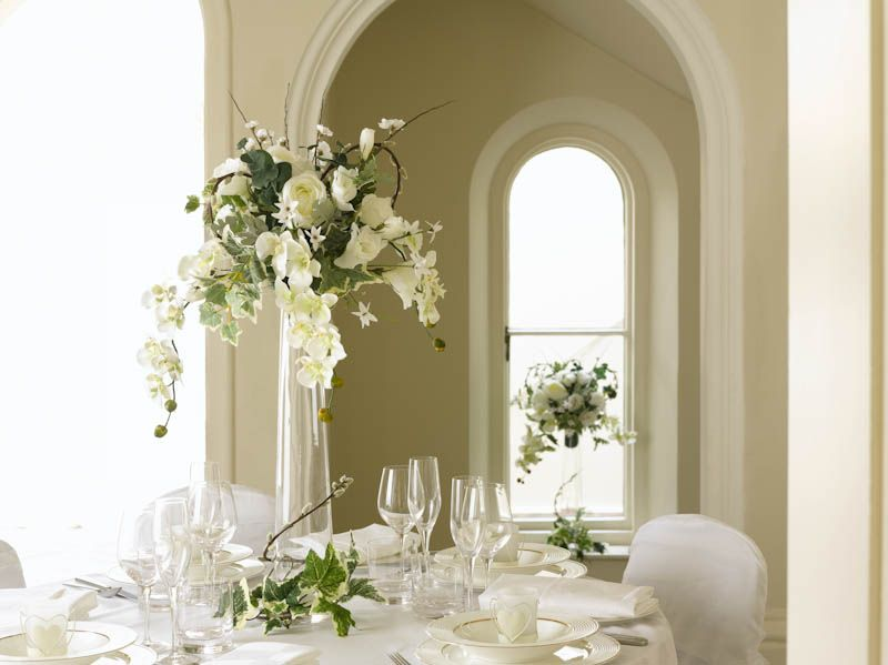 An Elegant Table Centrepiece Wedding Dunelm Products Used Tall Foot Vase Elegant Table Centerpieces Wedding Vases Table Centerpieces
