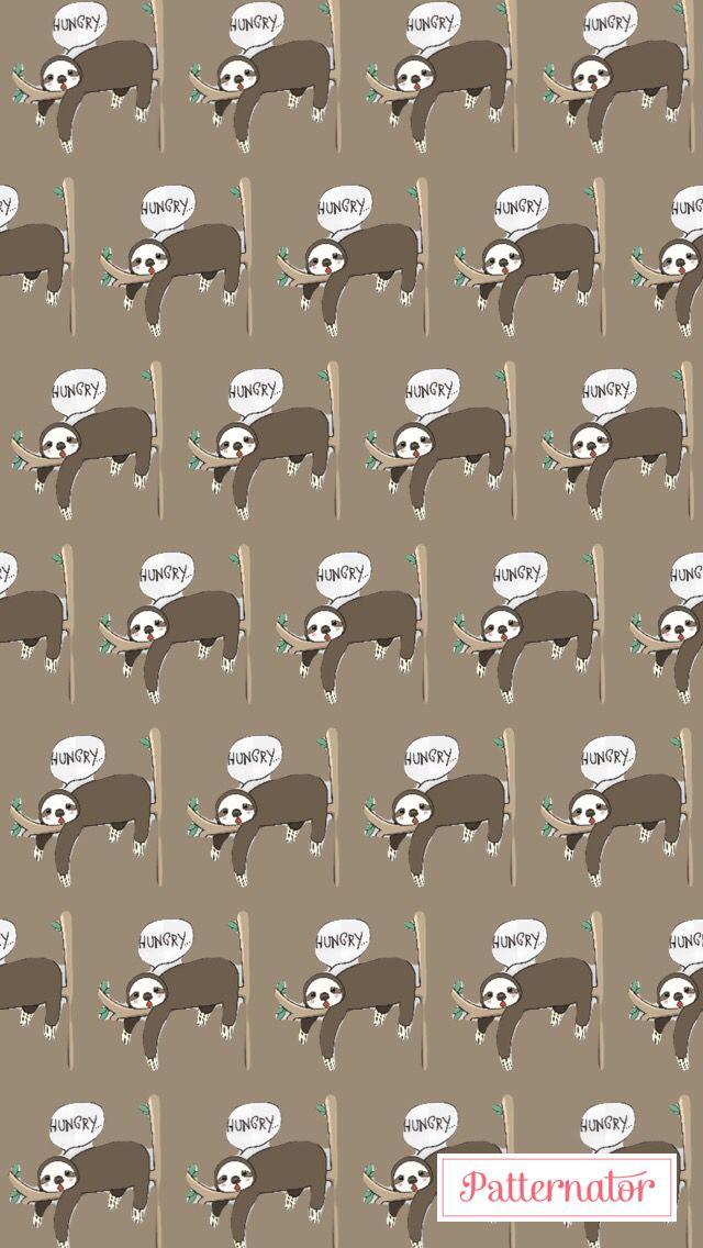 Sloths Made By Patternator App Cute Sloth Sloth Baby Sloth
