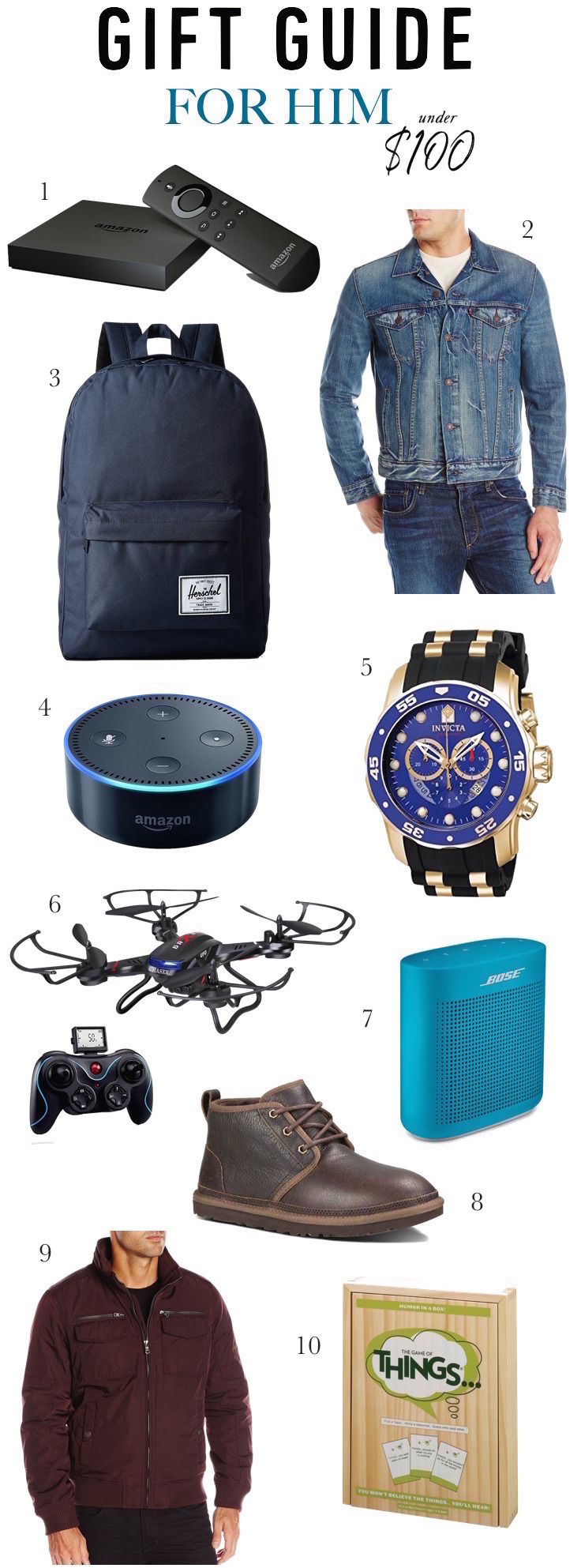 e2ae0036d0 Looking for Christmas gift ideas for your husband, dad, boyfriend or  brother? Click to see 20 stylish, useful and affordable holiday gift ideas  for him that ...