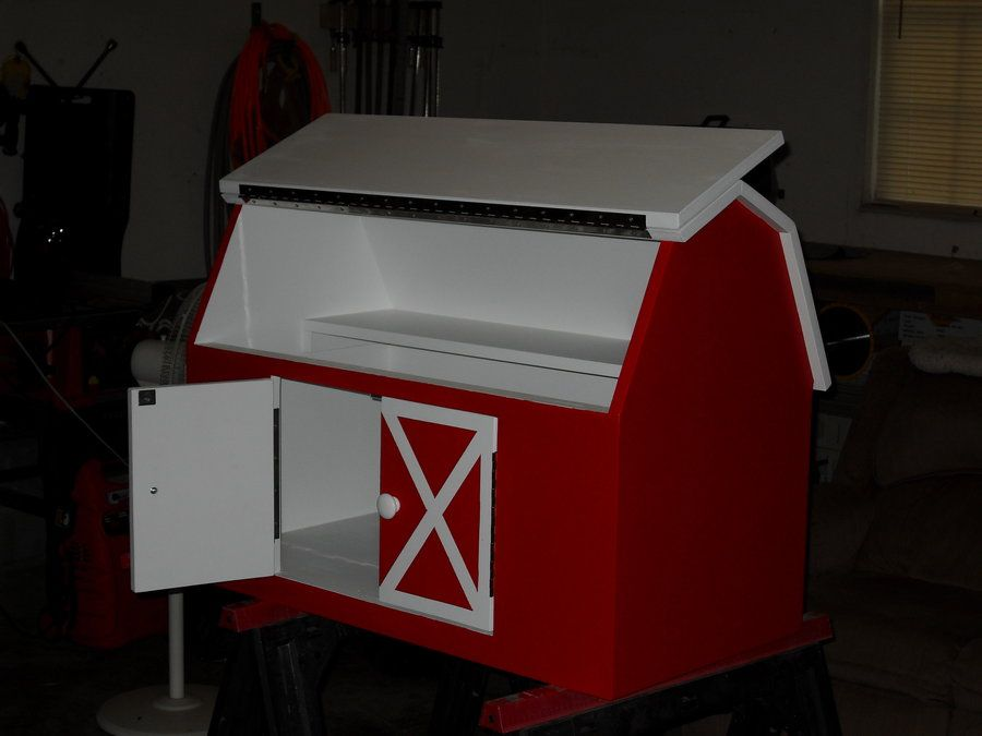 Barn Toy Box Plans How To Make Handy Storage For And Gizmos With Instructions This Chest Looks Like A Designed Even City