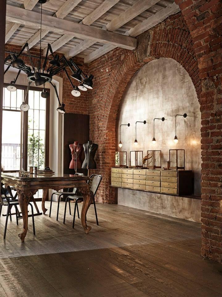 interieur maison brique. Black Bedroom Furniture Sets. Home Design Ideas