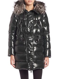 Moncler - Aphrotiti Fur-Trimmed Puffer Jacket