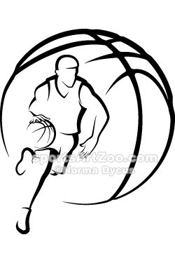 Basketball Man Dribbling With Ball By Sportsartzoo Basketball Drawings Basketball Art Basketball Ball