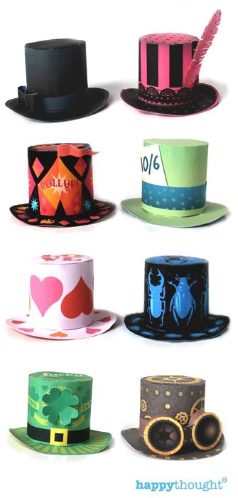How to make your own Mini top hats in minutes - printable templates ...
