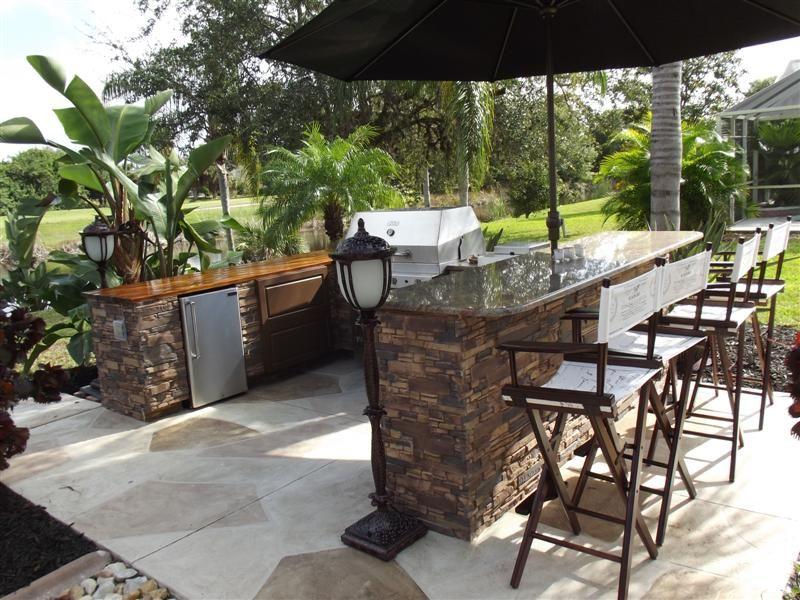Outdoor Kitchen Island Kits glamorous outdoor kitchen island kit with folding wood bar stools
