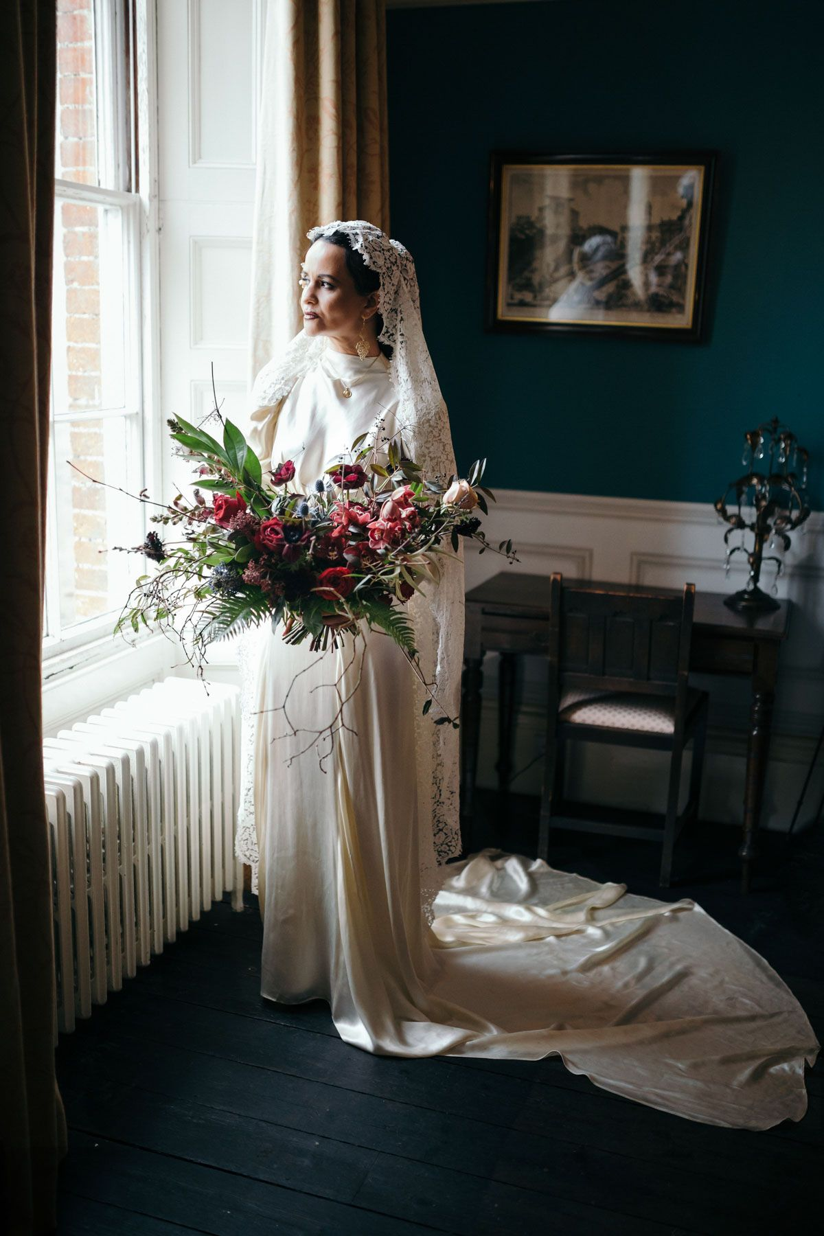 1940's style wedding bouquets  Mystical Latin American Bridal Shoot Inspired by Madonna  Bridal