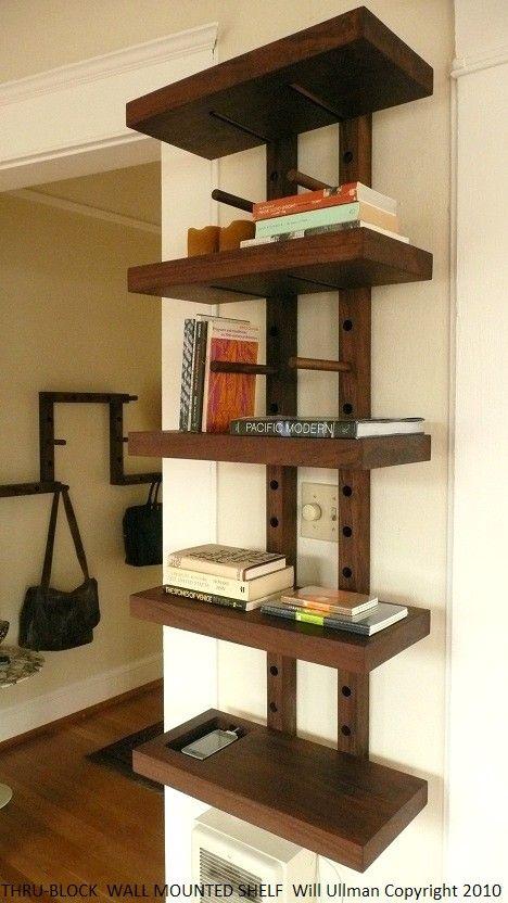 Thru Block Wall Mounted Modular Shelving System Small 2 Foot Wide Diy Furniture Shelving Cool Furniture