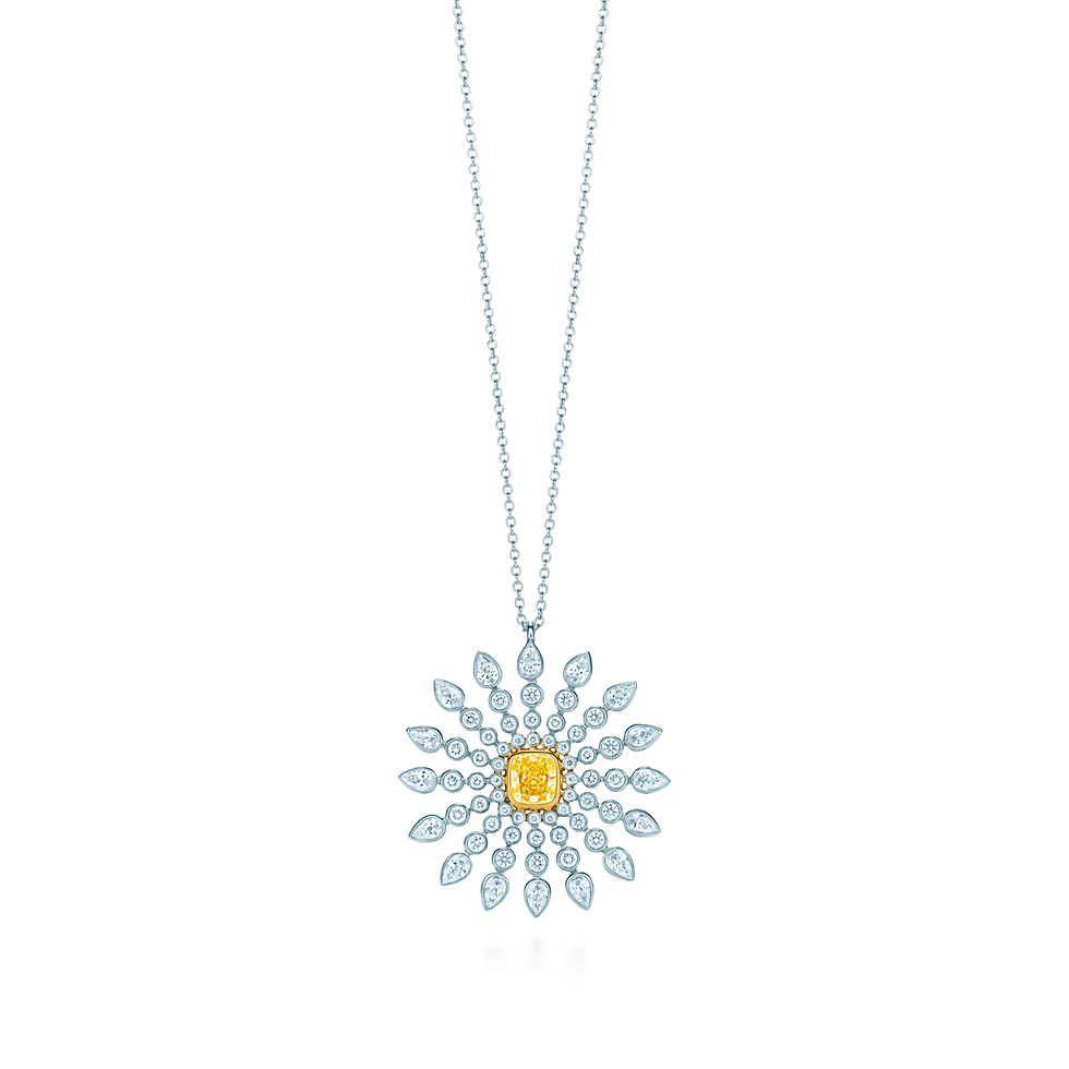 01214b5fc Sunburst pendant in platinum and 18k gold with a Tiffany Yellow Diamond. |  Tiffany & Co.