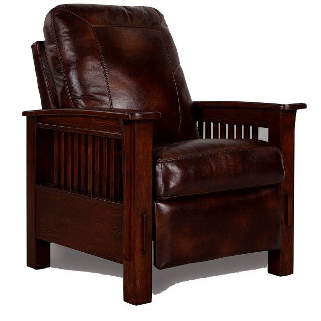 Mission Craftsman Morris Leather Recliner Mission Style Furniture Arts And Crafts Furniture Mission Furniture