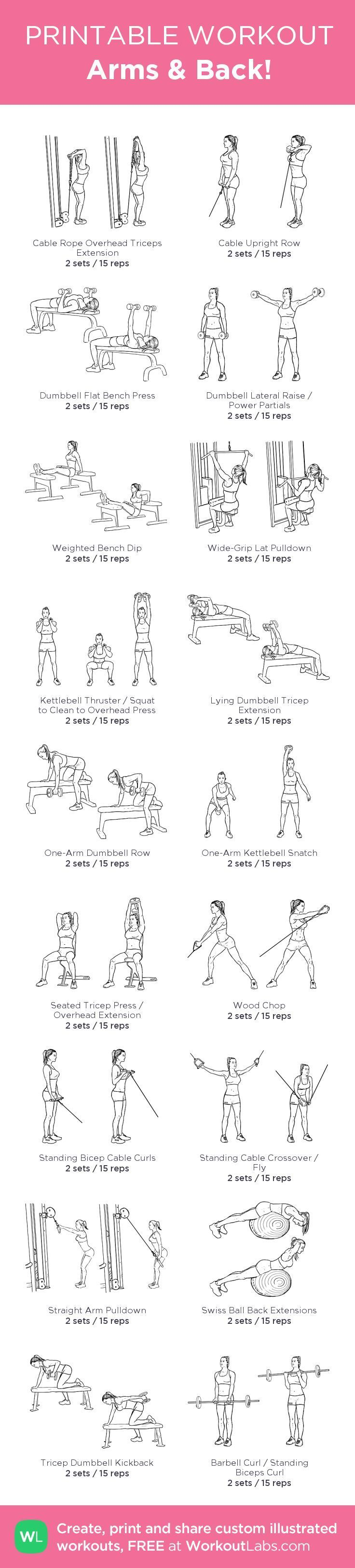 Arms Back My Custom Workout Created At WorkoutLabs O Click Through To Download As Printable PDF Customworkout Free Hand Exercises For