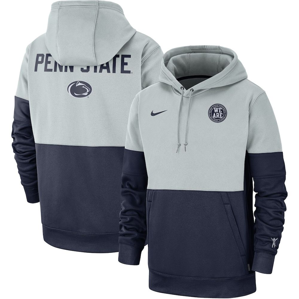 Men S Nike Gray Navy Penn State Nittany Lions Rivalry Therma Performance Pullover Hoodie Pullover Hoodie Mens Tops Nike Men [ 1000 x 1000 Pixel ]