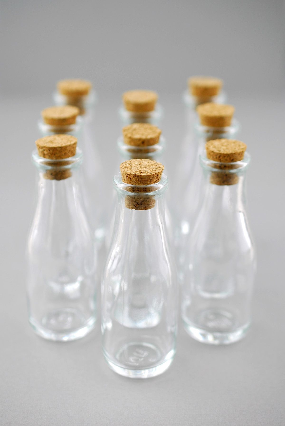 Mini Glass Bottles With Cork 40ml 3 8in Pack Of 10