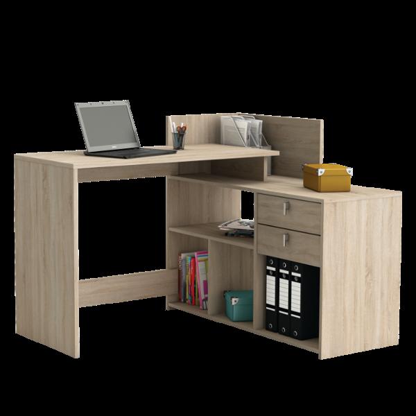 Vista Sarok Iroasztal 2 Fiokos Sonoma Tolgy 121x107 6x90 1cm Corner Computer Desk Home Office Computer Desk Corner Desk